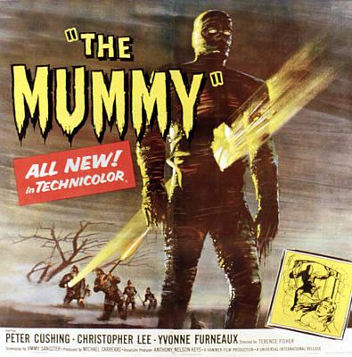 The Mummy, Christopher Lee, 1959 Art Print by Everett