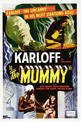 Postv Photograph - The Mummy, Top Left Boris Karloff Top by Everett