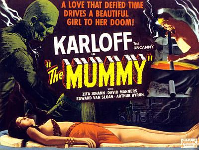 The Mummy, Upper Left Boris Karloff Print by Everett