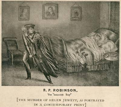 The Murder Of Helen Jewett In 1836 Art Print by Everett