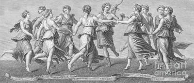 The Muses Print by Photo Researchers