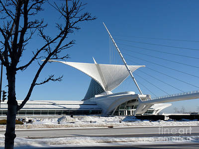 The Museum In Winter Print by David Bearden