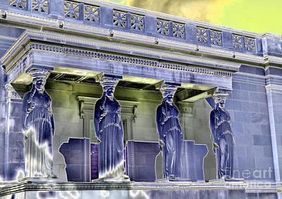 Caryatids Photograph - The Museum Supporters by David Bearden
