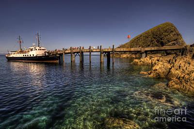 Oldenburg Photograph - The Mv Oldenburg At Lundy Island by Rob Hawkins