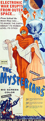 1957 Movies Photograph - The Mysterians, Insert Poster Art, 1957 by Everett