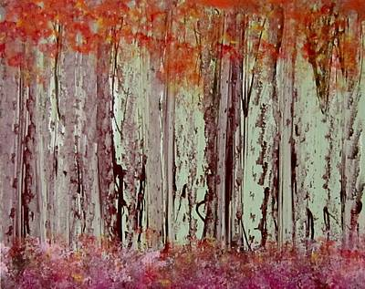 Painting - The Mystic Forest by Jarunee Ward