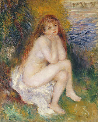 Naiad Painting - The Naiad by Pierre Auguste Renoir