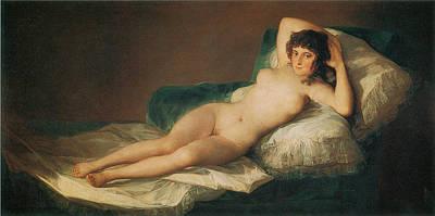 The Naked Maja Art Print by Francisco Goya