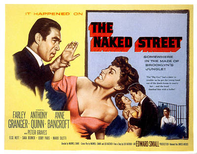 1955 Movies Photograph - The Naked Street, Anthony Quinn, Anne by Everett