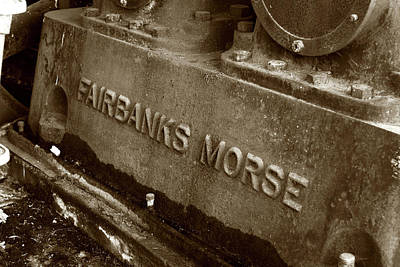 Photograph - The Name Is Fairbanks Morse by Lorraine Devon Wilke
