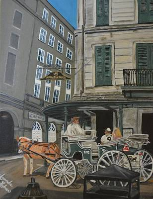 The Napolean House Art Print by Amanda Ladner