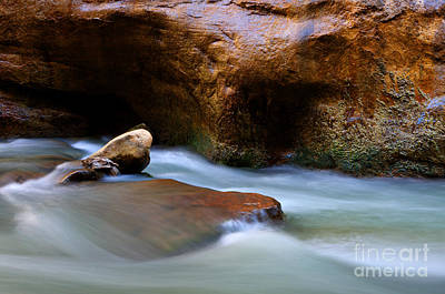 The Narrows Virgin River Zion 5 Art Print