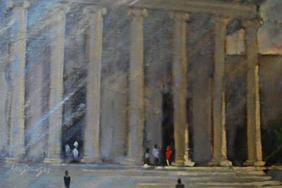 Washington D.c Painting - the National Gallery study by Len Stomski