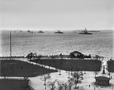The Navy Fleet In New York Bay Art Print