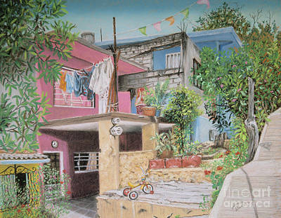 Mexicano Painting - The Neighborhood by Jim Barber Hove