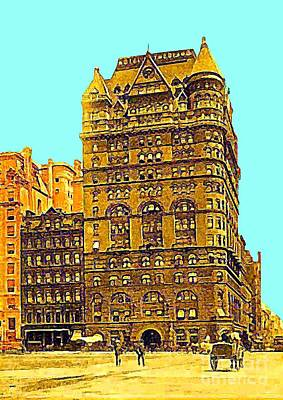 Painting - The Netherland Hotel In New York City In 1910 by Dwight Goss