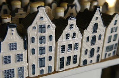 Frame House Photograph - The Netherlands, Amsterdam, Model Houses by Keenpress