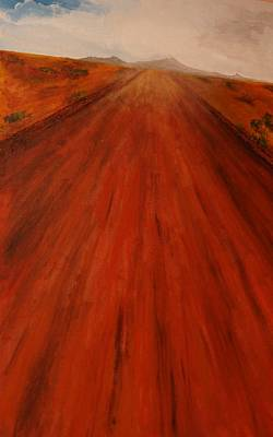 Painting - The Never-ending Highway by Robert Handler