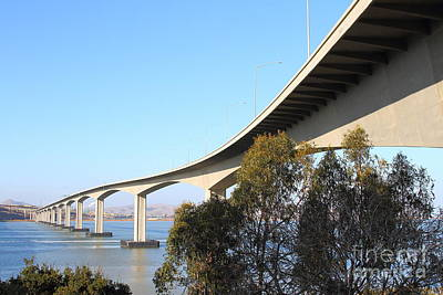 Photograph - The New Benicia-martinez Bridge Across The Carquinez Strait In California . 7d10438 by Wingsdomain Art and Photography