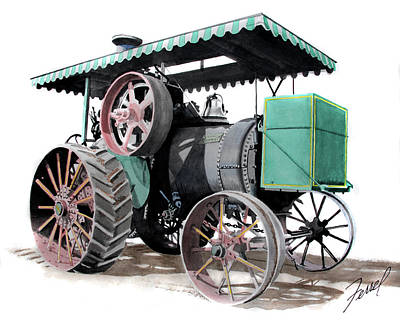 Steam Tractor Painting - The New Huber by Ferrel Cordle