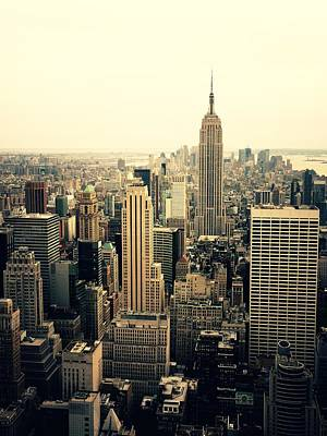 Skylines Photograph - The New York City Skyline by Vivienne Gucwa