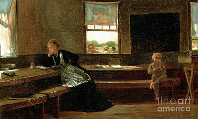 Sit-ins Painting - The Noon Recess by Winslow Homer