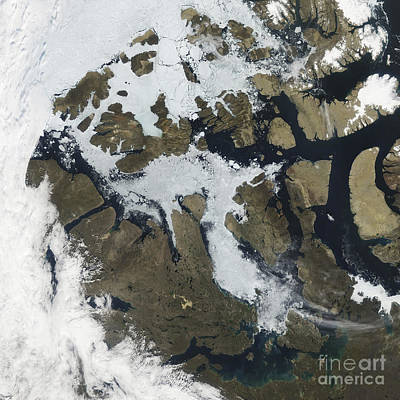 Landmass Photograph - The Northwest Passage by Stocktrek Images