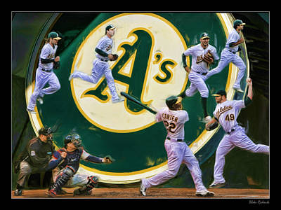 Photograph - The Oakland A's Collage by Blake Richards