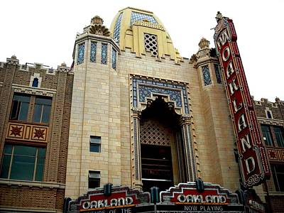 Photograph - The Oakland Fox Theater  by Kelly Manning