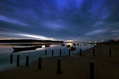 The Obidos Lagoon At Dawn Original by Dias Dos Reis