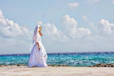 Digital Art - The Ocean Bride by Carrie OBrien Sibley
