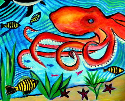 Painting - The Octopus Garden by Ted Hebbler