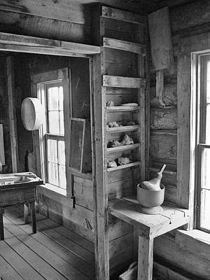 Photograph - The Old Assay Office Black And White by Ken Smith