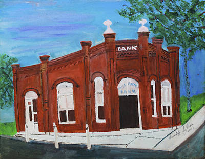 Art Print featuring the painting The Old Bank by Swabby Soileau