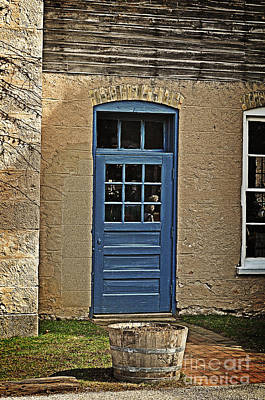 Winery Digital Art - The Old Blue Door by Mary Machare