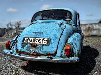 Photograph - The Old Blue Morris by Julie Williams