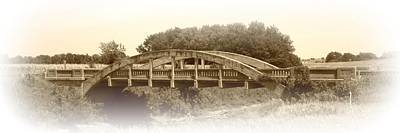 Photograph - The Old Bridge In Sepia by David Dunham