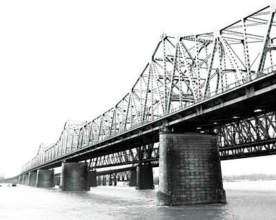 Art Print featuring the photograph The Old Bridges At Memphis by Lizi Beard-Ward