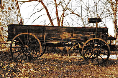 The Old Buckboard Wagon Print by Bill Cannon