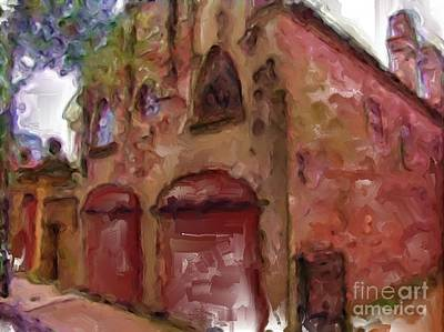 Digital Art - The Old Carriage House by Ruby Cross