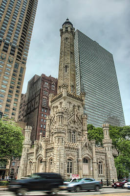 Old Chicago Water Tower Photograph - The Old Chicago Water Tower by Noah Katz