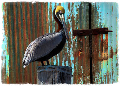 The Old Dock Art Print by Debra and Dave Vanderlaan
