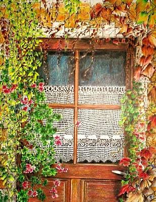 The Old Door Art Print by Jeanette Schumacher