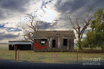 Haunted House Photograph - The Old Farm House In My Dreams by Wingsdomain Art and Photography