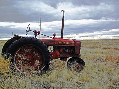 The Old Farmall Tractor 2 Art Print by Robin Cox