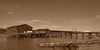 Photograph - The Old Fish Buying Station by Ansel Price