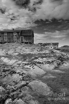 The Old Fisherman's Hut Bw Art Print by Heiko Koehrer-Wagner