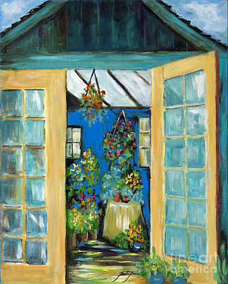 Painting - The Old Greenhose Shed by Pati Pelz