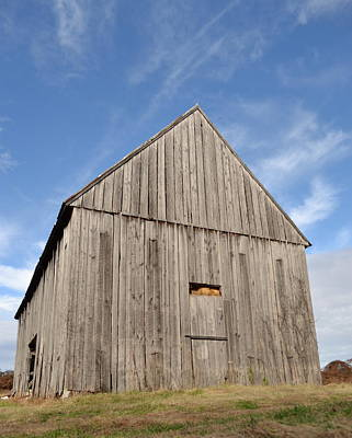 Photograph - The Old Grey Barn by JD Grimes