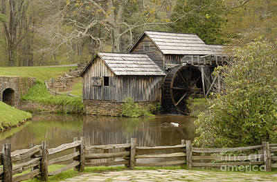 The Old Grist Mill Art Print by Cindy Manero